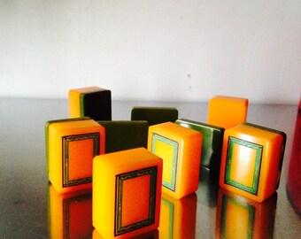 BakaliteTiles/ Vintage Bakelite Finding /Bakelite Jewelry Pieces /Possible Bakelite Mahjong Tiles