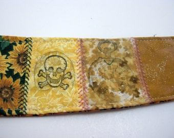 Skulls on my Wrist Gypsy Fabric Bracelet Cuff