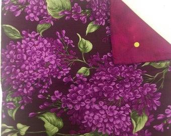 "Purple Flowers Cushion Cover 14"""