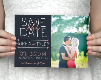 DIY printable photo save the date postcard - Sophia & Tyler.