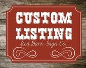 Custom listing for JW525