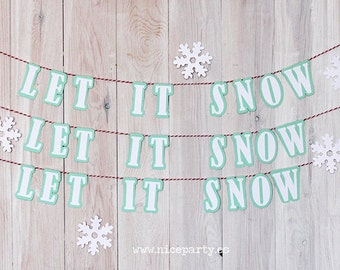 Let it snow mini garland
