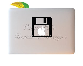 Computer Floppy Disk Geek 80s 90s Electronics Data Storage Megabyte Decal for Apple Macbook