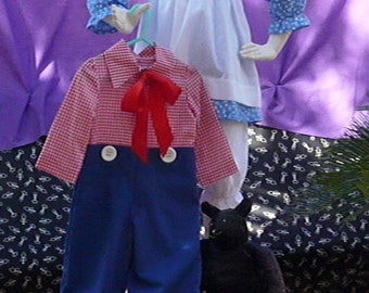 Childrens Halloween Costume / Little Girls Costume /Little Boys Costume /Sibling Costumes, Handmade Raggedy Ann or Raggedy Andy Costumes