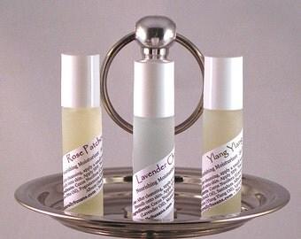 MOISTURIZER & PERFUME OILS - Lavender Chamomile / Rose Patchouli / Ylang Ylang - Natural Roll On Moisturizer Perfume Oil