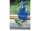 PATTERN PDF Snuggle Bird, Nest & Eggs Stuffed Toy or Decoration