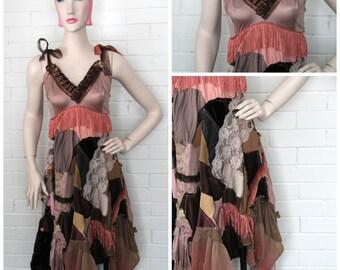Handmade Ragdoll Dress- Mocha Rose XL