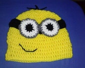 Crocheted Minion Beenie