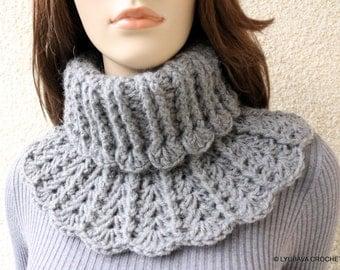Crochet Neck Warmer PATTERN, Chunky Crochet Scarf DIY, Winter Crochet Gift For Women, Instant Download PDF Pattern No.155 Lyubava Crochet