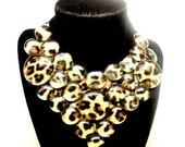 Leopard Print bib necklace women's animal print statement necklace prom party for her women's fashion cheetah print