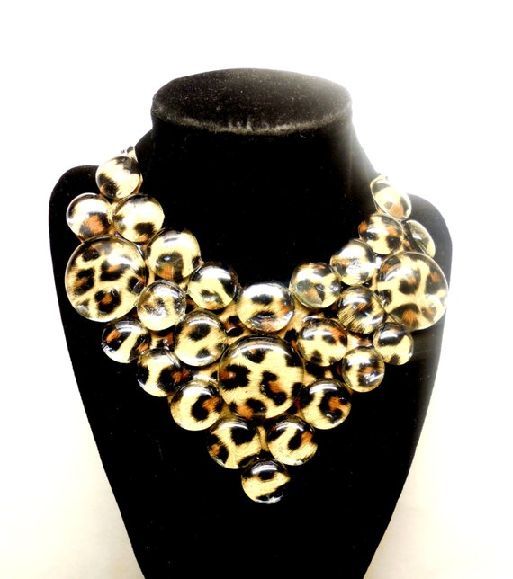 leopard print bib necklace s animal print by