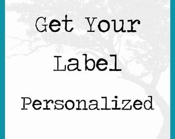 Personalize a Label - Label Customization