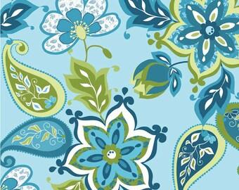 Splendor  Blue Fat Quarter Cut, by Lila Tueller Designs - Blue Fabric - Floral Fabric - Cotton Fabric - Riley Blake Designs