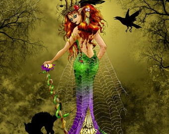 The Nightmare Fairy 16x20 double matted unframed print
