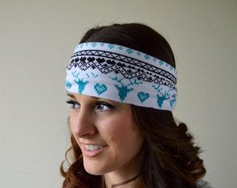 Reindeer jersey hair wrap, turban headband, A1