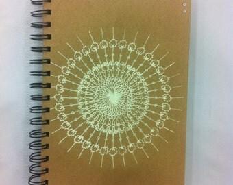 Hand screen printed A5 Notebook Spiral