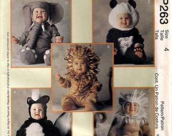 McCall's Costume Sewing Pattern P263 (aka 8938) - Toddler's Animal Costumes (4)