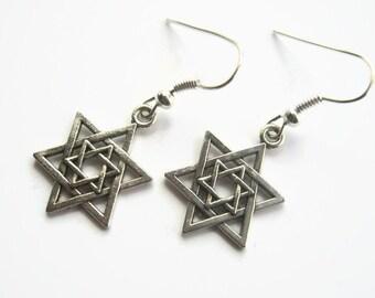 Star of David Earrings, Religious Earrings, Jewish Earrings, Judaism Jewelry, Israel, Personalized Earrings, READY To SHIP