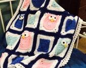 Owls Crochet Baby Afghan Pattern 285 PDF