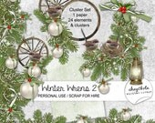 INSTANT DOWNLOAD Winter Wrens 2 - Clustered Kit