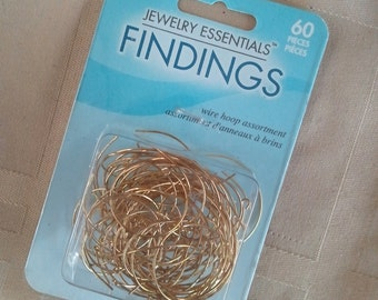 wire hoops findings 60 pc assortment 2 different sizes jewelry beading
