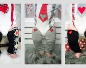 Valentine's Day Baby Leg Warmers with Red Heart Button, Socks Leggings Boot Cuffs Boot Toppers, Unisex, Baby Boy Valentines