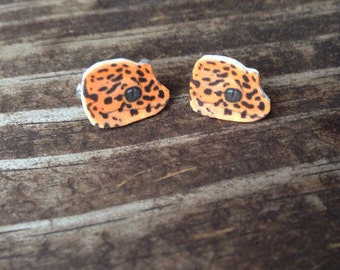 Leopard gecko earrings, lizard earrings lizard jewelry gecko jewelry gecko earrings reptile leopard gecko jewelry reptile earrings