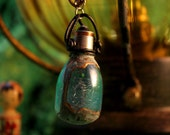 Vintage Flashbulb Necklace  - Copper painted