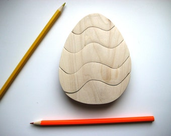 Wooden Puzzle Easter egg. Wooden ecofriendly handmade toys for children. Ready to ship.