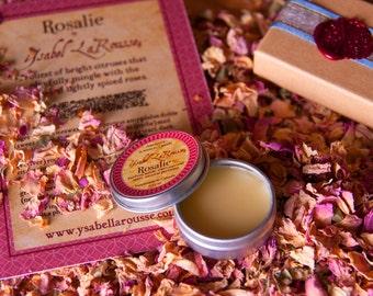ROSALIE Natural Solid Perfume - Medieval Perfume - Rose Perfume - Travel Perfume