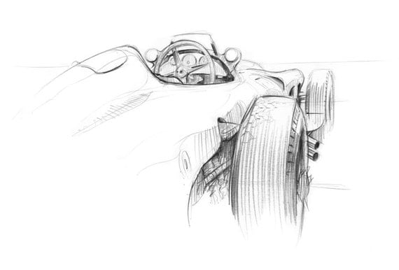 W196 Mercedes - Goodwood Festival of Speed Print
