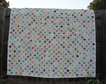 Cathedral Window Queen size quilt.  Not just handmade but hand sewn!  One of a kind!