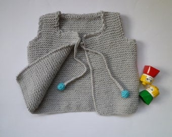 Knitted baby vest, baby girl vest,baby boy vest
