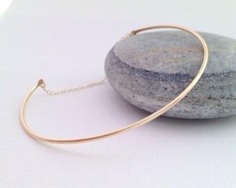 Simple & trendy bangle bracelet - gold filled bangle - 14k gold filled clean bangle - simple bracelet  - gold cuff bracelet