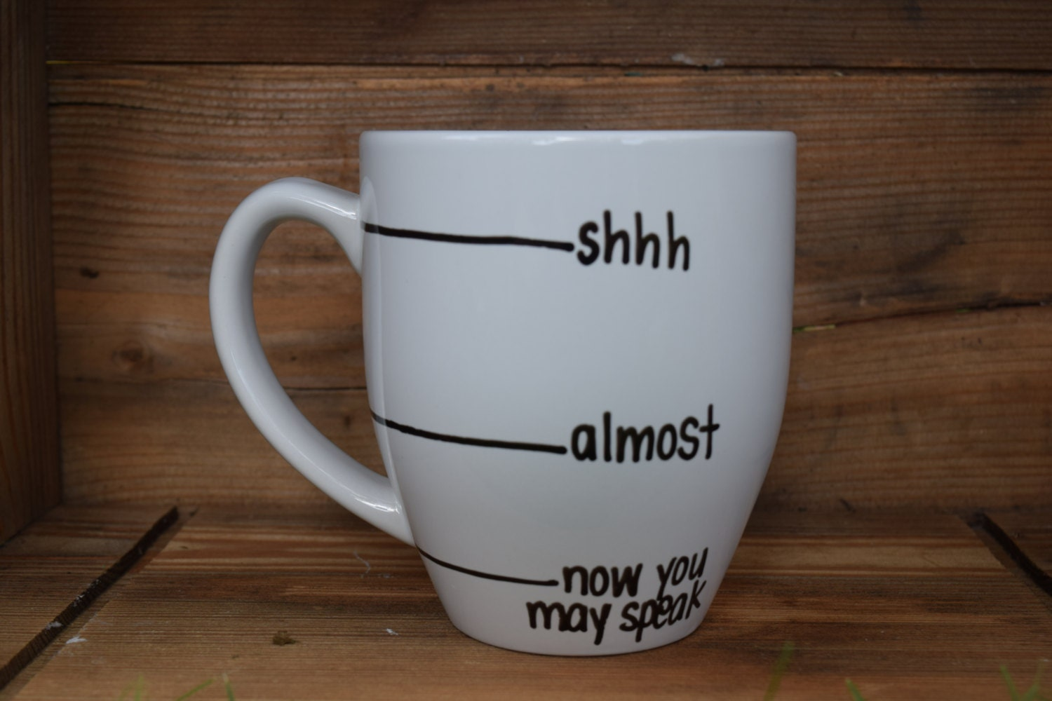 Now you may speak shh almost now you may speak now you may - Funny coffee thermos ...