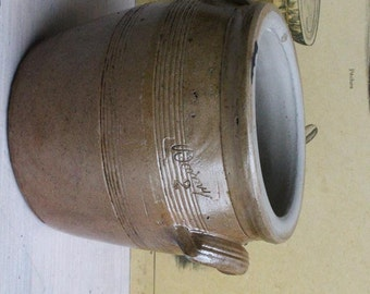 Small Ceramic Pottery French Confit Pot