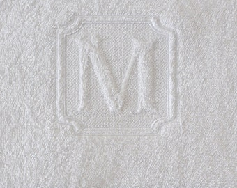Victorian Embossed Embroidery Monogram Font - Instant Download