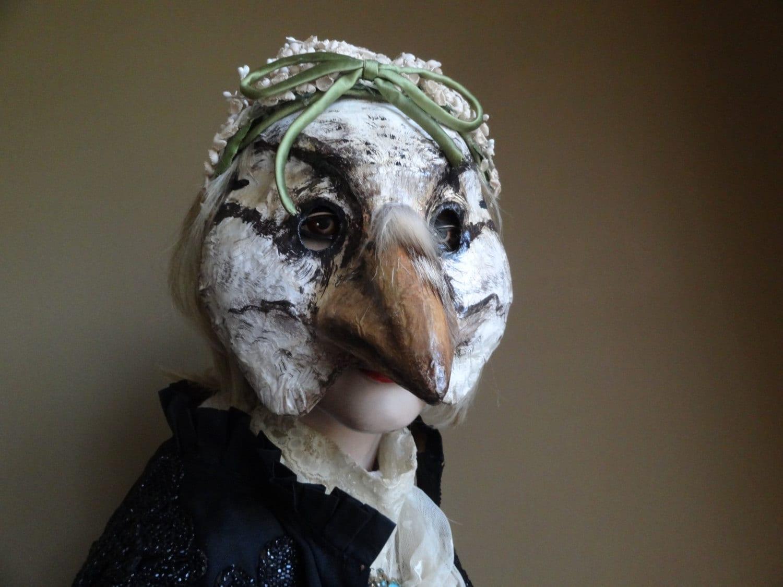 Paper mache forest bird mask - Masque papier mache ...