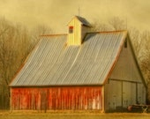 Old Barn - Architectural Photography - Building - Gifts Under 30 - Coupla - Color Photo - Farm Building - Barn Photo - Barn Print