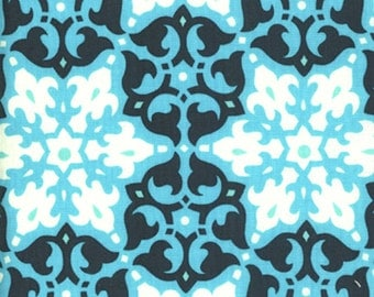 ℳ Amy Butler 100% cotton Large print designer collection 45 inches wide  AB35 Mosaic in River  fabric by the Yard, 1 yard