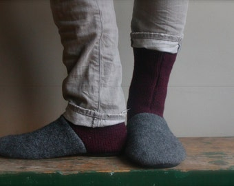 Men's Felted Wool Slippers, Men's slipper, Texas A&M