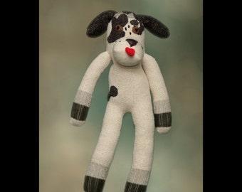 Digity Dawg the lovable sock dog! unique sock monkey animal