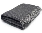 Linen grey blanket, bedspread, natural blanket, picnic blanket bed blanket, gift idea