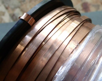 Dead Soft 28 Gauge Solid Copper Bezel Wire - 1/8th inch wide