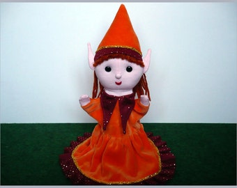 Filiella, the elf girl - hand puppet