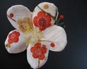Japanese Ume blossom Ornament OR Scent Bag,Kimono fabric