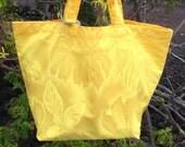 Hawaiian Print Shopping Bag