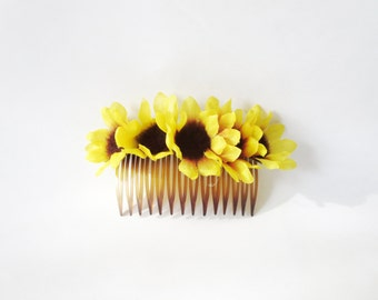Lily of the valley hair comb -Jasmin Flower  comb -Wedding Hair Comb  Romantic Bridal Hair Accessories  White Flowers comb sunflower comb