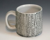 Trimmed Mug with Black Dots