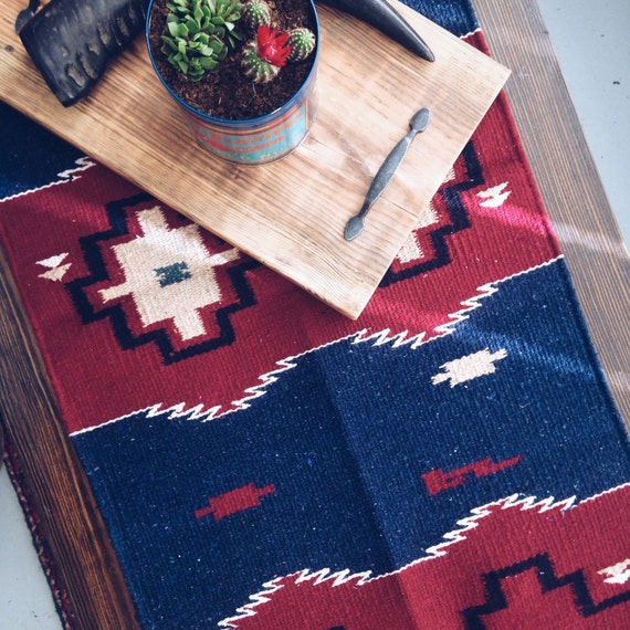 Southwest Mexican Navajo Textile Rug Table Runner Wall